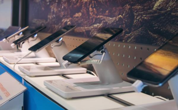 Tablets on display at the AT&T Mobility store.