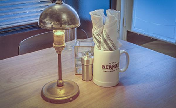 Bernies mug and table