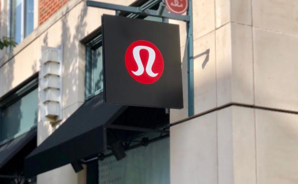 Exterior sign at lululemon university city