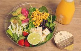 Salad prepared by Pret A Manger.