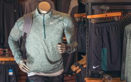 A manikin dressed in runners clothing inside the Philadelphia Runner store.