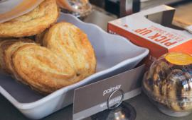 Pastries on display at Au Bon Pain.