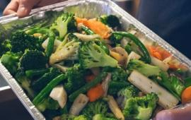 A plate of delicious vegetable stir fry from Beijing Restaurant.