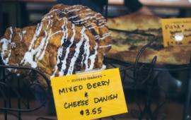 Baked good on display at Metropolitan Bakery.