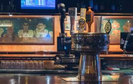 The bar at Smokey Joe's.
