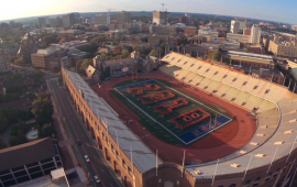 Aerial view of Franklin Field.