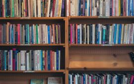 Books on display at House of our Own Books