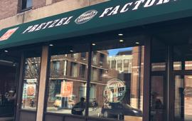 Exterior of Philly Pretzel Factory