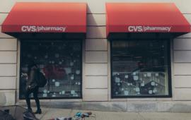 Outside exterior of CVS Pharmacy.